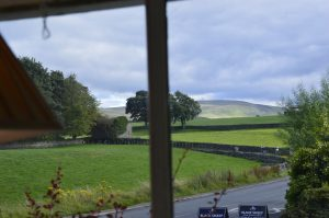 Your room at the George and Dragon Inn offers lovely views of the Yorkshire Dales.