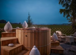 SpaShell Cedar Spa gives guests a great evening retreat in a quiet relaxing setting