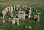 Aerial view of Stonehenge standing stones