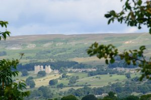 A view of Bolton Castle, Yorkshire Dales Park, Britain
