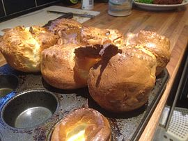 Food term Yorkshire Puddings are a savory bread prepared in a special way