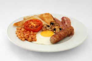 Food term Full English Breakfast was designed to last a worker all day