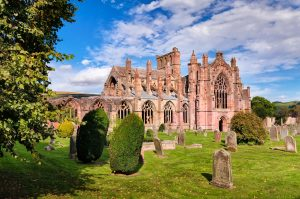 Melrose Abbey in borderlands