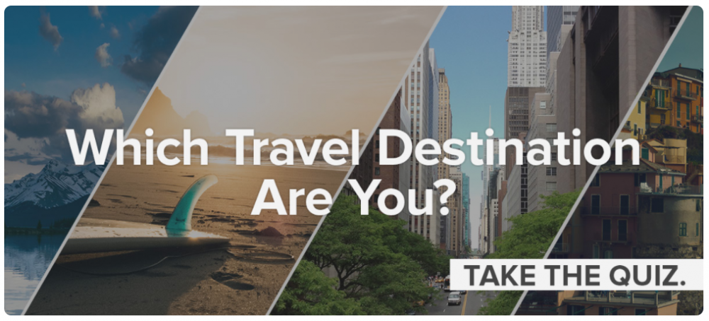 Travel destination quiz
